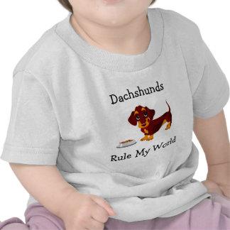 Dachshunds Rule My World Infant Tee Shirt