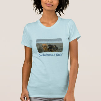 Dachshunds Rule T-Shirt On The Beach