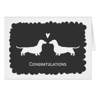 Dachshunds Wedding Congratulations Card