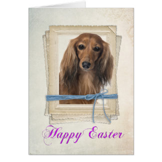 Dachsund Easter Card