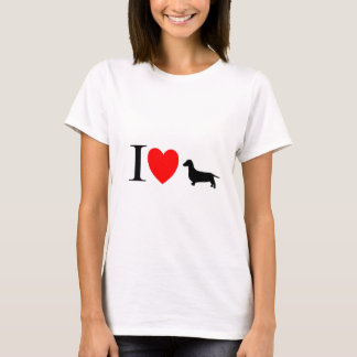 """Dachsund Lover Gifts """"I Love Dachsunds"""" T-Shirt"""