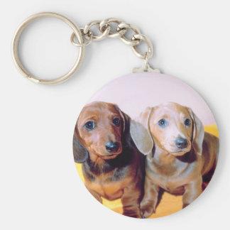 Dachsund Puppies Keychain