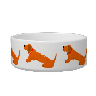Dachsund Sausage Dog Bowl by artist John Dyer