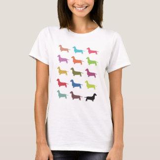 Dachsund Sillhouette T-Shirts Gifts