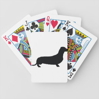 dachtsund1 bicycle playing cards