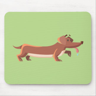 Dackel sausage dog mouse pad
