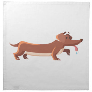 Dackel sausage dog napkins