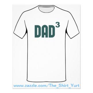Dad3 Dad Cubed Exponentially Custom Flyer