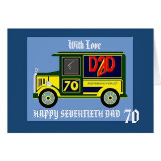 Dad 70th birthday card