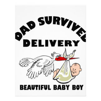 Dad and beautiful baby son custom letterhead