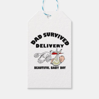 Dad and beautiful baby son gift tags