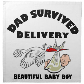 Dad and beautiful baby son napkin