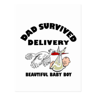 Dad and beautiful baby son postcard