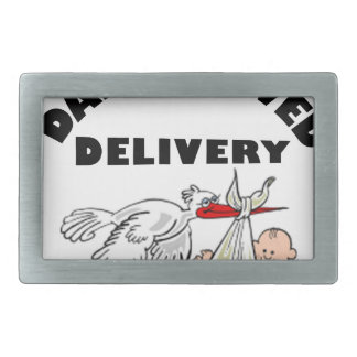 Dad and beautiful baby son rectangular belt buckles