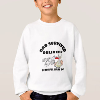 Dad and beautiful baby son sweatshirt