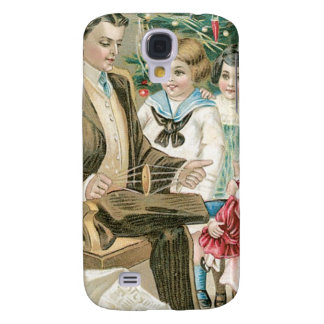 Dad and Children on Christmas Galaxy S4 Case