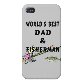 Dad and Fisherman iPhone 4 Cover