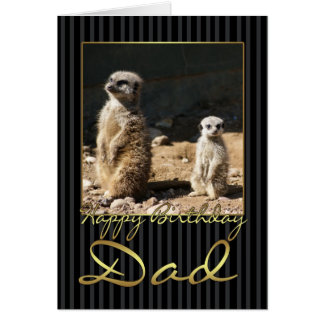 Dad Birthday Card With meerkat