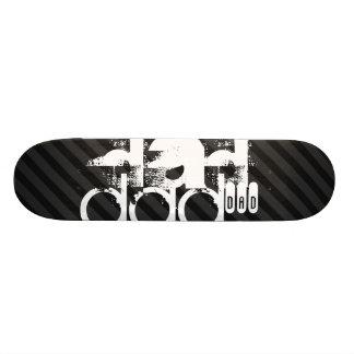 Dad; Black & Dark Gray Stripes Skateboards