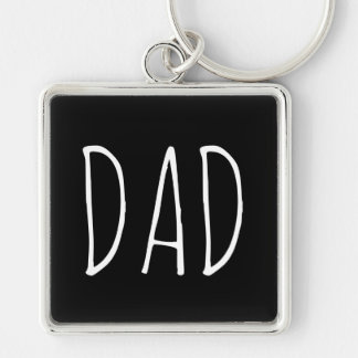 Dad Black Keychain Father's Day