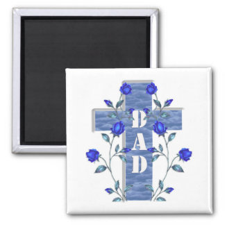Dad Blue cross magnet