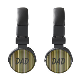 Dad Brown Striped DJ Style Headphones