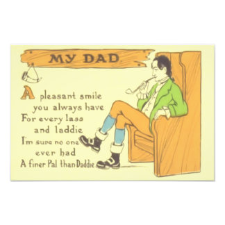 Dad Chair Pipe Vintage Father's Day Photo