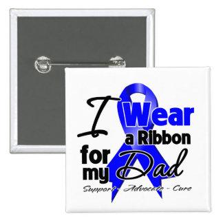 Dad - Colon Cancer Ribbon 2 Inch Square Button