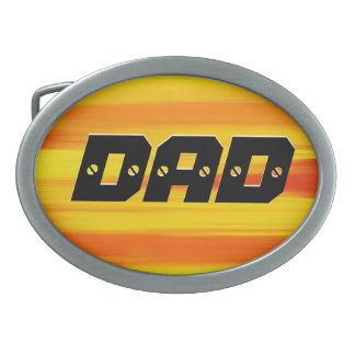 DAD - DADDY - Happy Father's Day Oval Belt Buckles