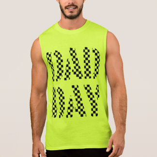 DAD DAY checkered Happy Father's day! Sleeveless Shirt