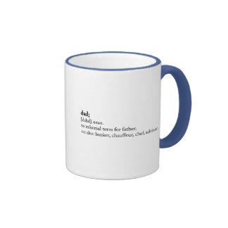 Dad - Dictionary Definition Ringer Coffee Mug