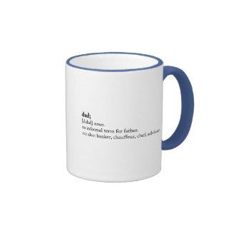 Dad - Dictionary Definition Ringer Mug
