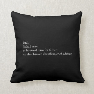 Dad - Dictionary Definition Throw Pillow
