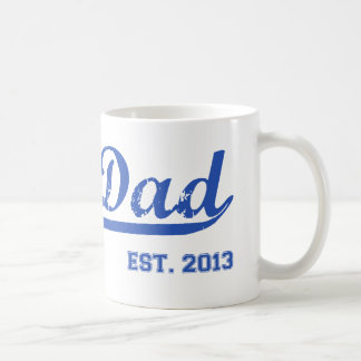 DAD EST. 2013 NEW DADDY BABY FATHER'S DAY GIFT CLASSIC WHITE COFFEE MUG