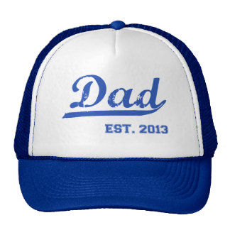 DAD EST. 2013 NEW DADDY BABY FATHER'S DAY GIFT TRUCKER HAT