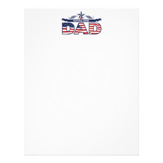 Dad, Father, A Natural Born Dad Personalized Letterhead