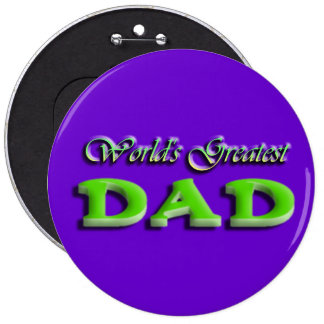 Dad Fathers Day Pinback Button