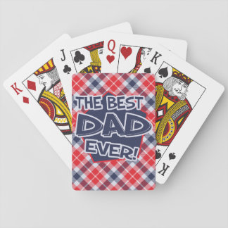 Dad Father's Day Playing Cards, Standard faces Poker Deck