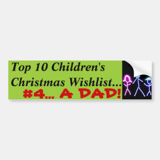 Dad for Christmas Bumper Sticker