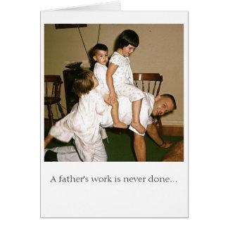 Dad Horsing Around Card