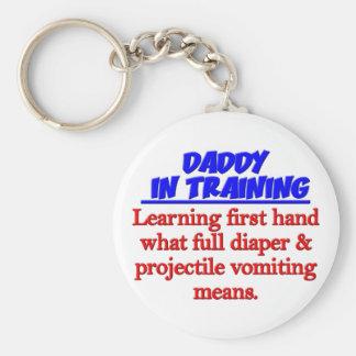 Dad in Training Basic Round Button Keychain