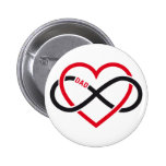 Dad infinity heart for Father's day Button