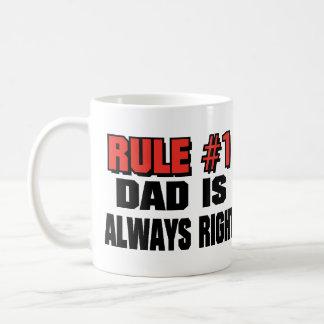 DAD IS ALWAYS RIGHT! BASIC WHITE MUG