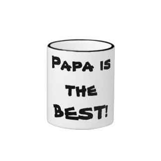 Dad is the BEST! Ringer Coffee Mug