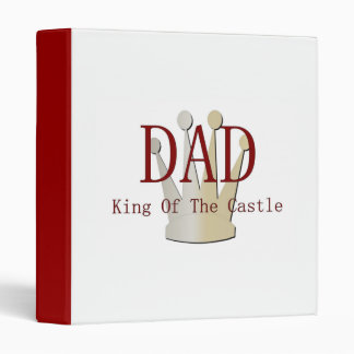 Dad King Of The Castle Binder
