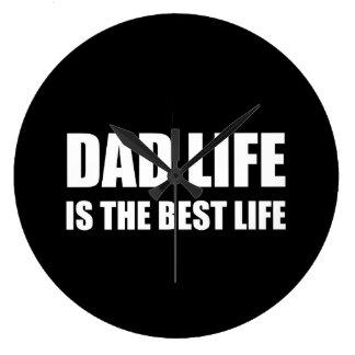 Dad Life Best Life Large Clock