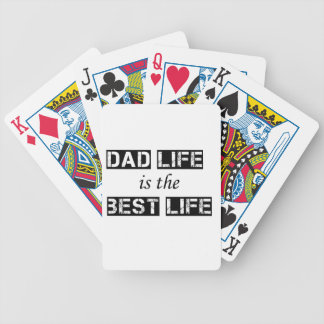 dad life is the best life poker deck