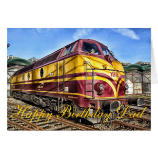 Dad Locomotove Birthday card