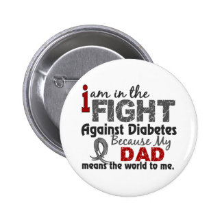 Dad Means World To Me Diabetes 2 Inch Round Button