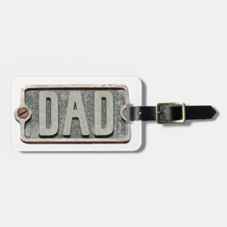 DAD Metal plate design Luggage Tag